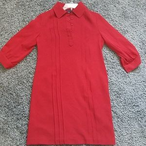 NWT Tommy Hilfiger Collared Red Dress size 12